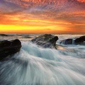 On The Rock by Agoes Antara - Landscapes Waterscapes