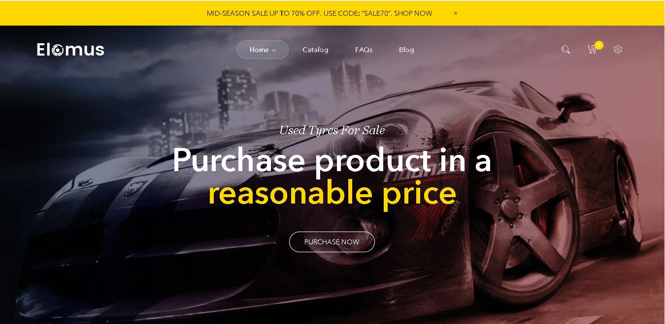 Auto parts shopify theme elomus shop