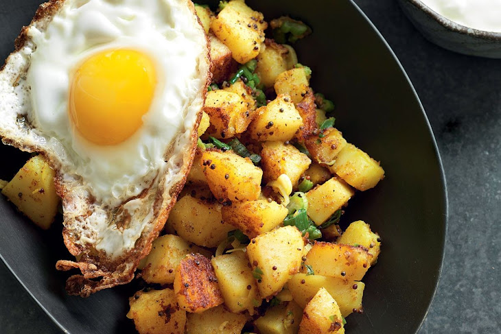 Easy Indian Spiced Potatoes with Fried Egg Recipe