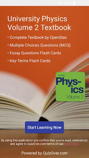 University Physics Volume 2 Textbook, Test Bank - Apps on