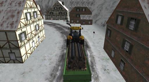 Karda Traktör Sürme Yük Taşıma