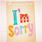 Sorry messages,images & SMS