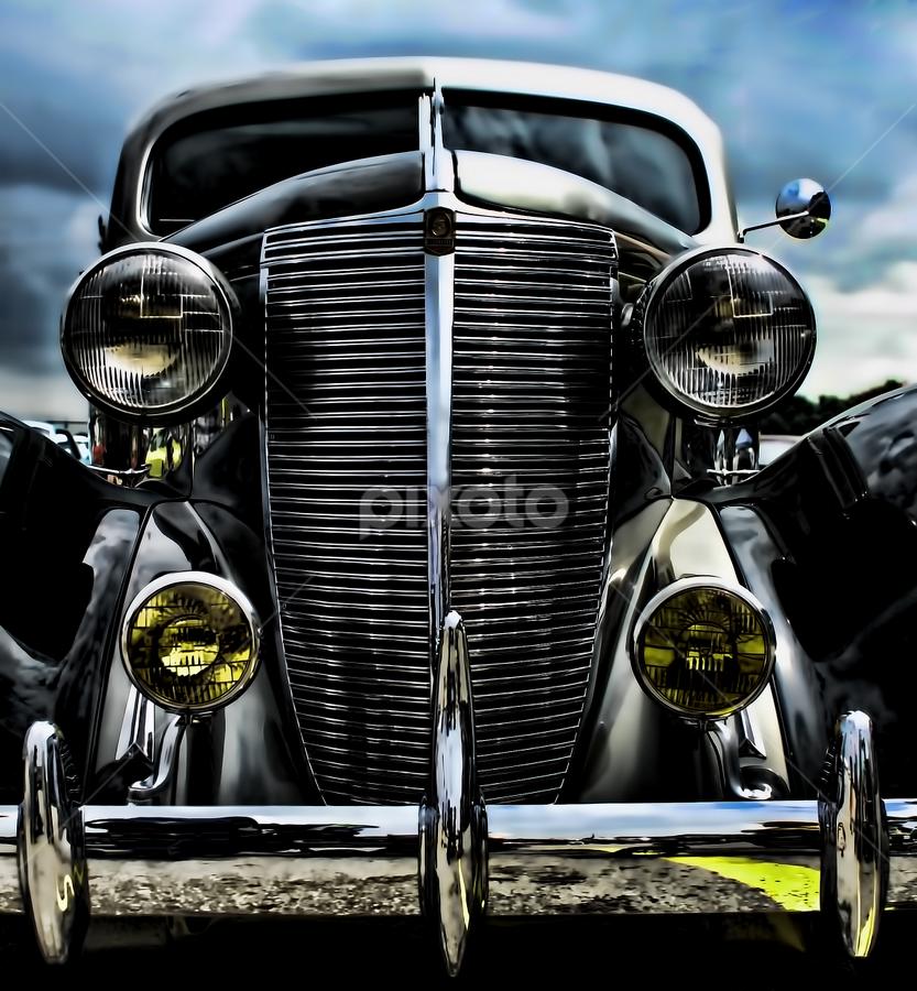 LaFayette by Sarah Hauck - Transportation Automobiles ( car, metal, lafayette, oldie, shiny )