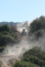 Photo: Angeles National Forest, CA  Bulldozers cutting line to the Mt. Wilson Observatory