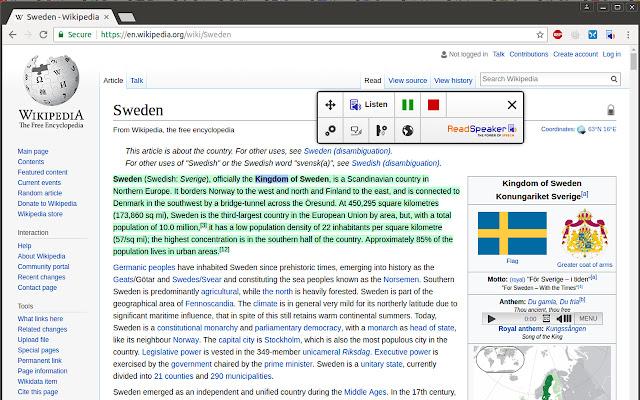 ReadSpeaker® TextAid for Chrome