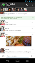 Photo: Inside a conversation there's now larger profile photos and a cleaner look.