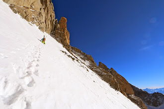 Photo: On the lower snow field