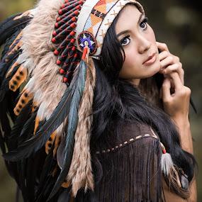 Indian Girl by Andy Kusmajadi - People Portraits of Women