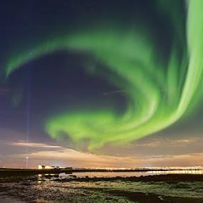 Northern lights by Bragi Kort - Landscapes Starscapes