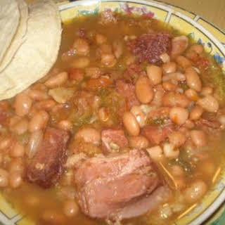 Mexican Charro Pinto Beans, Frijoles Charros Pintos.