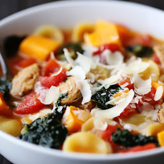 Sweet Potato, Sausage & Kale Soup