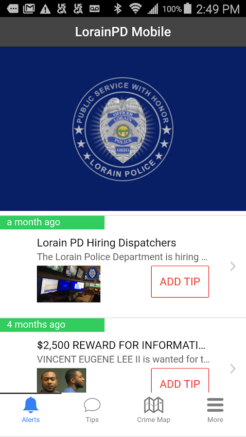 LorainPD Mobile- screenshot