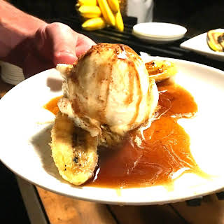 Grilled Bananas Foster with Myer's Rum Sauce.