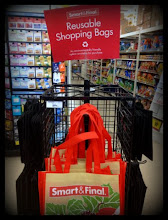 Photo: Reusable shopping bags for sale at Smart & Final, reuse-recycle!