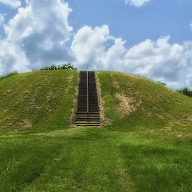 Indian Mound. by Dave Walters - Landscapes Caves & Formations ( native american, mound builders, lumix fz200, mound, colors )