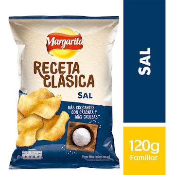 PASABOCAS MARGARITA   PAPAS FRITAS SAL RECETA CLÁSICA X120G
