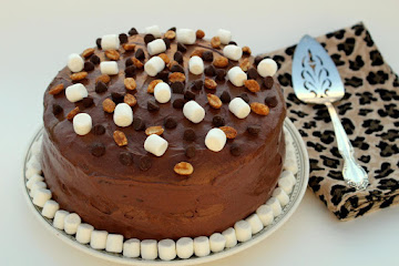 Peanut Butter Rocky Road Cake Recipe