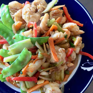 Chinese Shrimp and Vegetable Stir Fry.