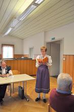 Photo: Rapport de la Présidente du Choeur Intrè No Antonie Zamofing