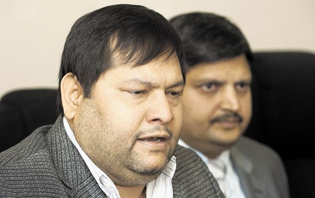 Ajay, front, and Atul Gupta. Picture: MARTIN RHODES
