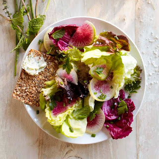 Baby Lettuces with Radishes and Spring Herbs.