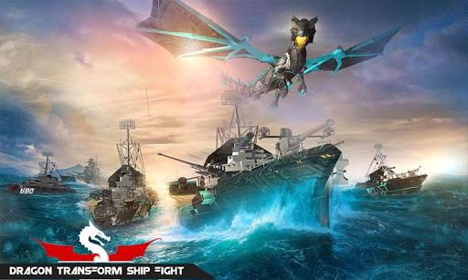 Flying Dragon Transformation Robot Battleship Game 1.2 screenshots 1