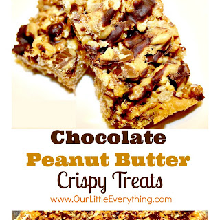 Chocolate Peanut Butter Crispy Treats.