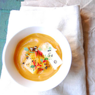 Carrot, Orange & Sweet Potato Soup