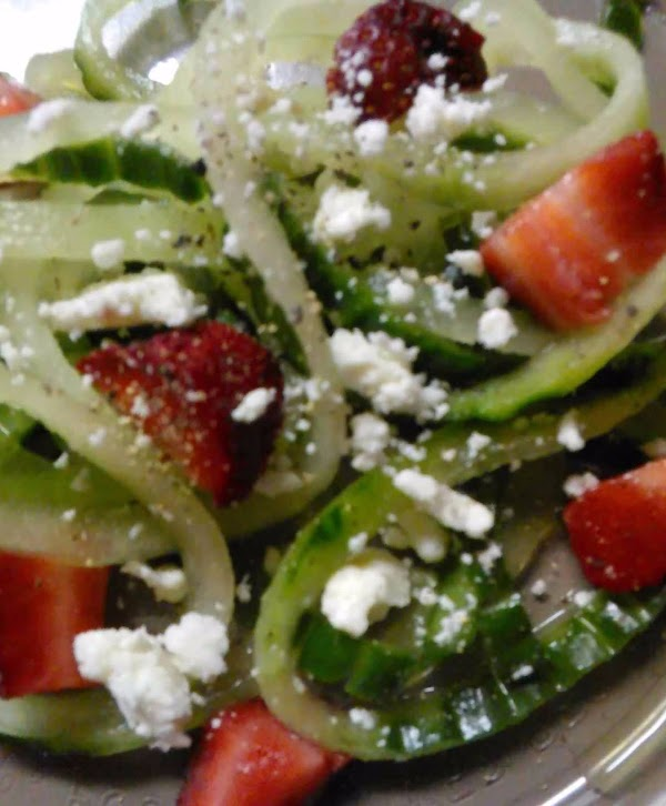 Veggetti Cucumber Strawberry Feta Salad Recipe