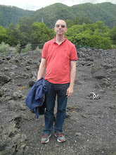Photo: Chris, standing at the point where the lava stopped flowing during the 1992 eruption