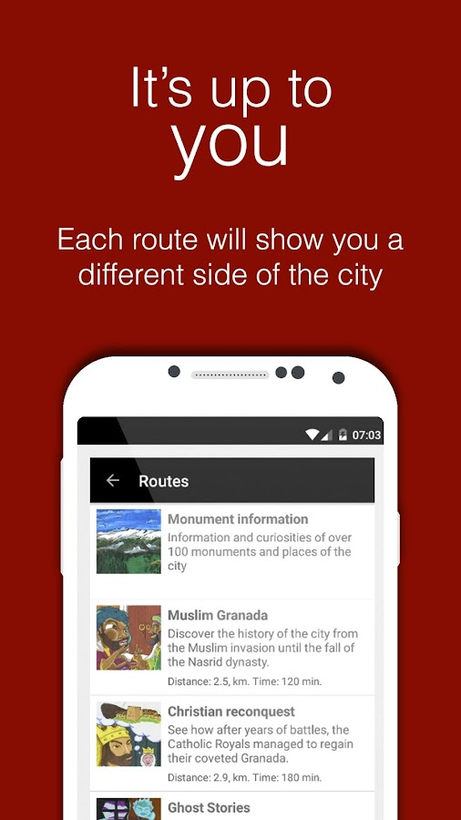 GEApp Tourism guide- screenshot