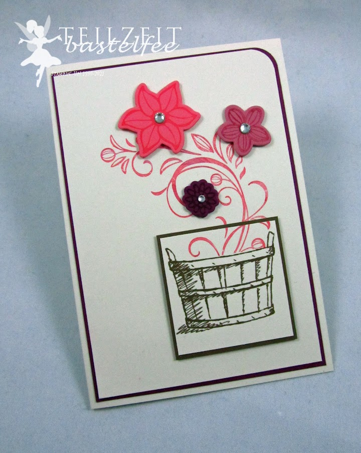 Stampin' Up! - Inkspire_me, Sketch Challenge, Color Challenge, Falling Flowers, May Flowers, Basket of Wishes