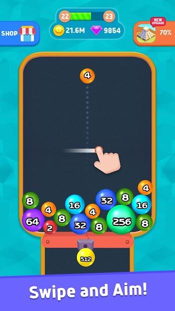 2048 3D Plus Android App Screenshot