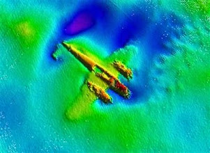 Photo: A World War Two era German Dornier 17 bomber is seen using high-tech sonar equipment, showing it to be largely intact and well-preserved on the sea floor, in an undated photo off the Kent coast. REUTERS/Port of London/handout