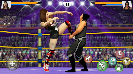 Bad Girls Wrestling Rumble: Women Fighting Games apktram screenshots 2