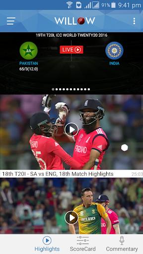 Willow - Watch Live Cricket 2.9 screenshots 2