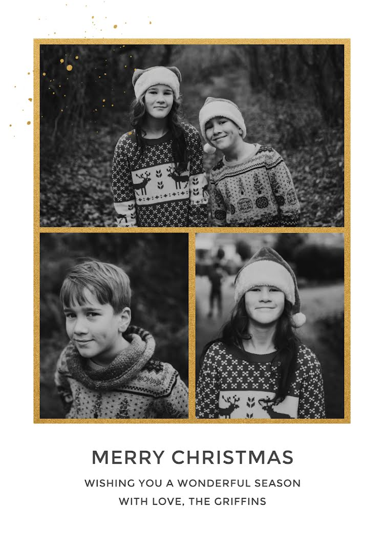 Greetings from the Griffins - Christmas Card Template