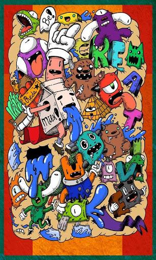 玩免費遊戲APP|下載Doodle Art Kertas Dinding app不用錢|硬是要APP