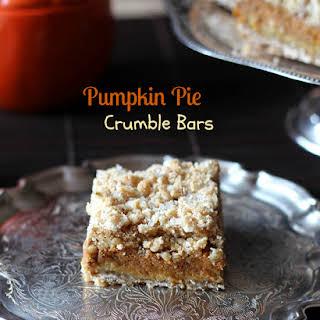 Pumpkin Pie Crumble Bars.