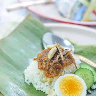 Nasi lemak / Coconut milk Rice.