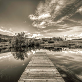 Fishing Pond  by Chad Weisser - Landscapes Mountains & Hills ( high aspen ranch, weisser photography, pwcreflections-dq, aspen )