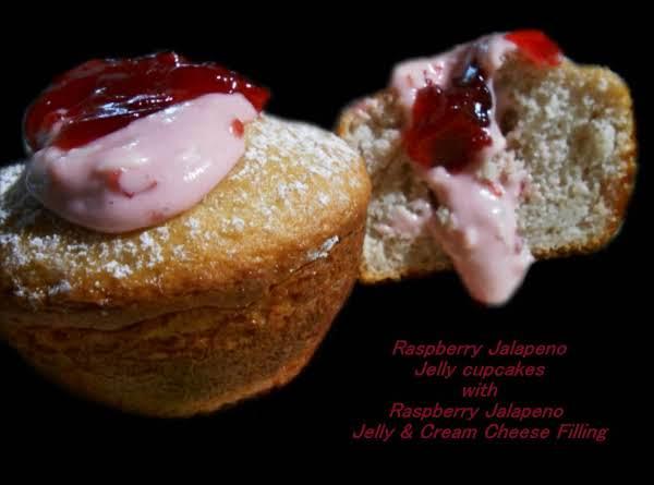 Raspberry Jalapeno Jelly Cupcakes