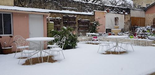 Terrasse sous la neige.