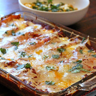 Simply the Best Shredded Beef Enchiladas.