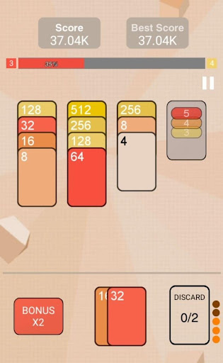 2048 Solitaire - screenshot