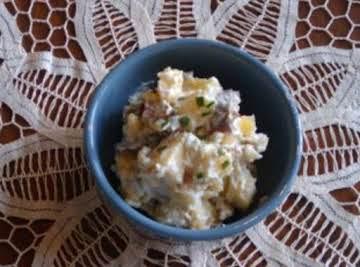 Red, White, and Bleu Potato Salad