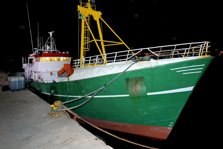 Cocaine valued at R583m was seized from this ship.