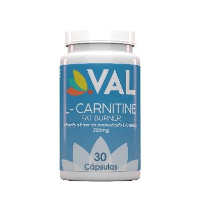 l-carnitina 500 mg val 30 cápsulas