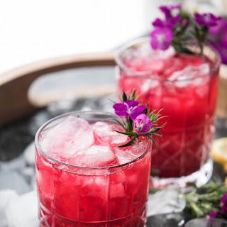 Hibiscus Bourbon Cocktail.