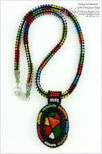 Photo: Variegated Pendant with Variegated Rope - Різнокольоровий кулон з різнокольоровим джгутом